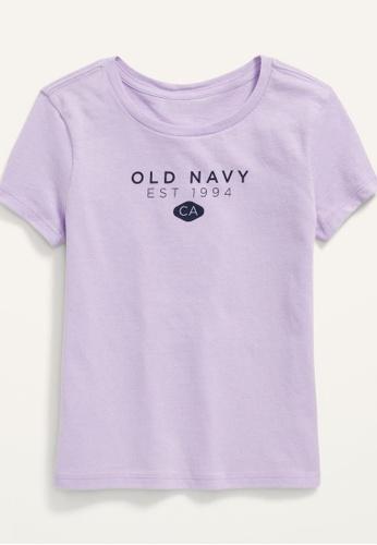 Old Navy purple Girls Short-Sleeve Logo-Graphic Tee 04E0AKAC004573GS_1