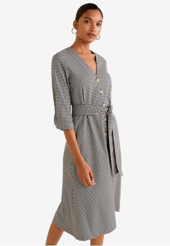 Mango grey Gingham Check Dress C31A8AA5BCB44BGS_1