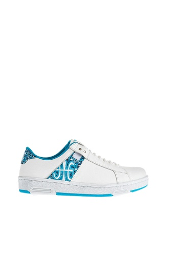Royal Elastics white and green Icon Z Leather Sneakers RO796SH2UYL0HK_1