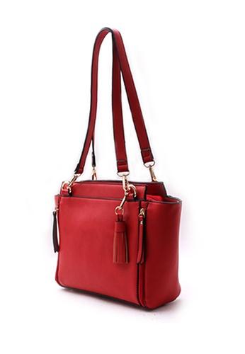 Sesura red Vintage Feel Trapeze Shoulder Bag 400E4AC16DAF02GS_1