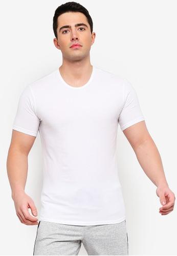 425374aa49616 Calvin Klein white Short Sleeve Crew Neck T-Shirt - Calvin Klein Underwear  32AF8AA38A5C19GS 1