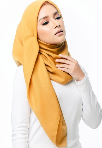 Imaan Boutique yellow Cotton Square Scarf Oak 78A25AAC51AB56GS_1