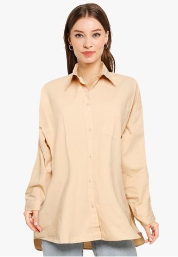 Cotton On brown Dad Shirt C89AFAA6E5DD2EGS_1