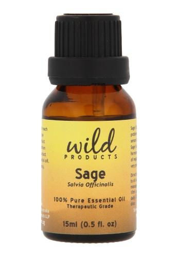 Wild Products Sage Essential Oil (Salvia Officinalis) - 15 ml F301ABEC1CC0E0GS_1