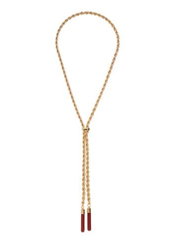 Violeta by MANGO gold Crystal Cord Necklace 6481FACA7B21FCGS_1