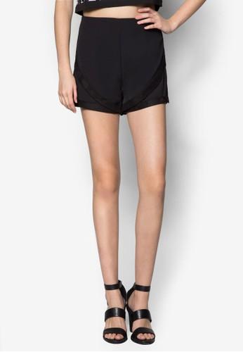 配色滾邊休閒短褲, zalora 順豐服飾, 長褲及內搭褲