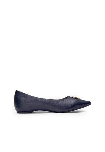 SEMBONIA blue SEMBONIA Synthetic Leather Ballet Flat (Dark Blue) 51396SHD523C44GS_1