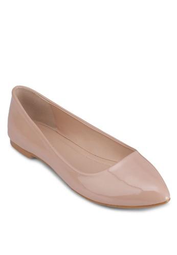漆面尖頭平底zalora是哪裡的牌子鞋, 女鞋, 芭蕾平底鞋