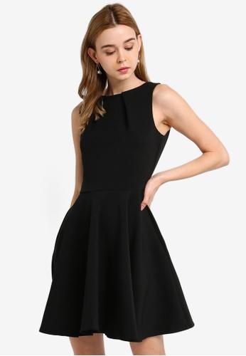 CLOSET black Skater Belted Dress F4011AA80C1DFFGS_1