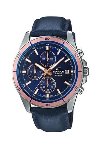 Casio blue Edifice Chronograph Watch EFR-526L-2A DBC3BAC8067BFFGS_1