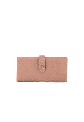 Valentino Rudy pink Valentino Rudy Italy Ladies Croc-Effect 3 Fold Long Wallet 040734-503 6FE47AC99197ABGS_1