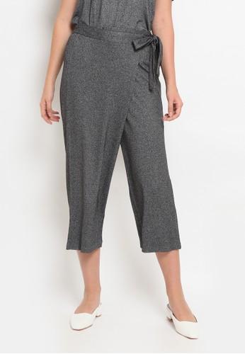 et cetera grey High Waist Crop Pants A1FEEAA306A286GS_1