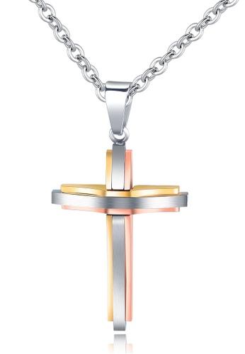 Trendyshop gold Cross Pendant Necklace 5CFCCAC0BD1C55GS_1
