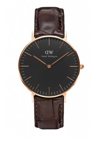 Daniel Wellington gold and brown Classic Black York Watch 36mm DA376AC75NBSMY_1