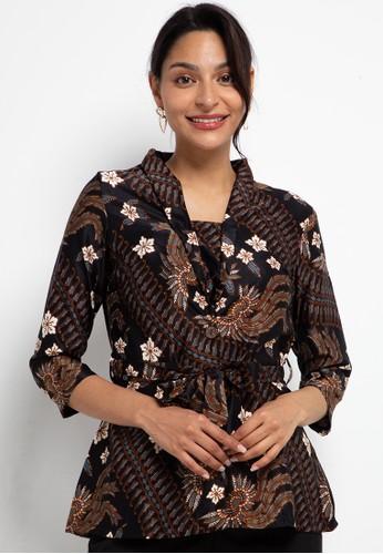 ARJUNA WEDA black Blouse Batik Lereng Parang Isi BF5D6AA76406D9GS_1