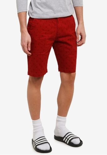 Marc & Giselle 紅色 Bermuda 短褲 MA188AA0RTKSMY_1