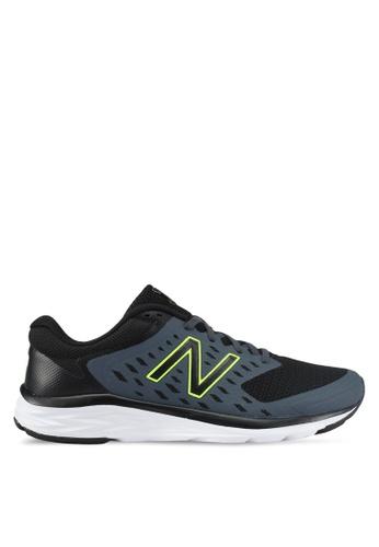 New Balance black and grey 490 Responsive Fitness Running Shoes NE323SH0SVD0MY_1