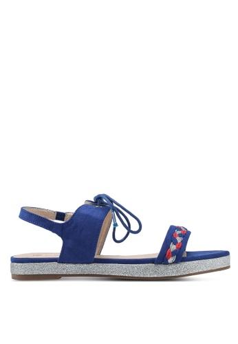 Divine Factory blue Chantelle Sandals 66EF3SH0BAB0AFGS_1