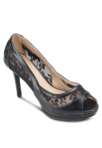 蕾絲魚口高跟鞋, 女鞋, esprit專櫃鞋