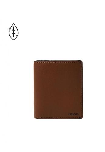 Fossil brown Joshua Vegan Cactus Front Pocket Wallet 19EDCACCFB55B2GS_1