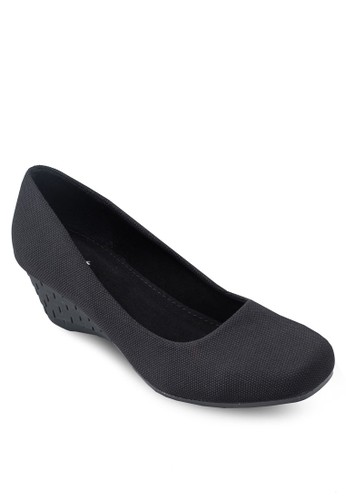 Covet 方頭素面楔esprit 香港型鞋, 女鞋, 厚底楔形鞋