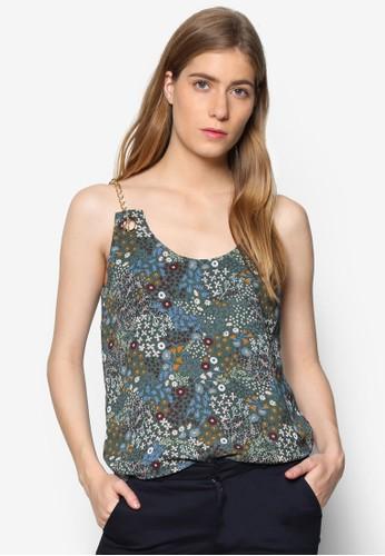 Florence 鍊飾肩帶花esprit tw卉印花背心, 服飾, 上衣