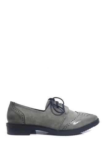 Twenty Eight Shoes 灰色 VANSA 懷舊擦色牛津鞋 VSW-F76666 D2CFFSHDA63A74GS_1