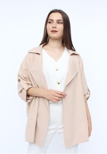MAGNOLIA pink Basic Blazer With Glitter 97F33AA46FE84EGS_1