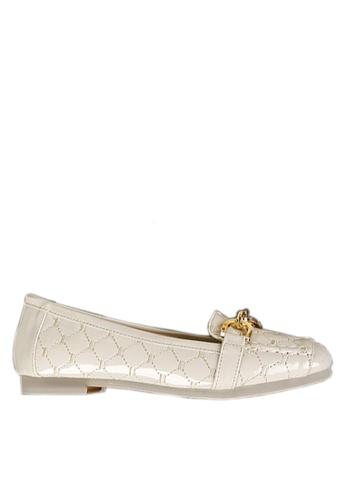 Twenty Eight Shoes 白色 舒適菱格車縫線平底鞋 VL309978 42032SH7F2ADFFGS_1