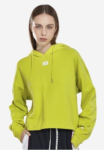 FILA yellow Korea Collection FILA Logo Cropped Cotton Hoodies CE777AA925F473GS_1