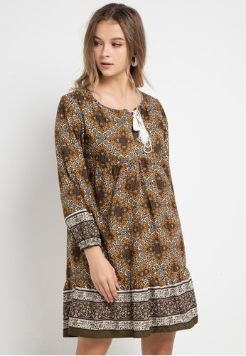 GRAPHIS multi and brown Ethnic Dress 99C3FAA6915A38GS 1 7ce40e62b4