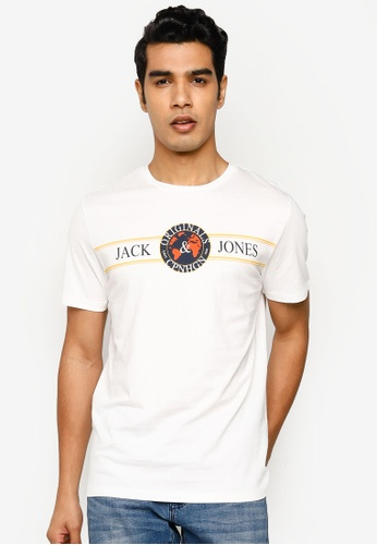 Jack & Jones white Dorm Short Sleeve T-Shirt 1FCAFAAF01B0A2GS_1
