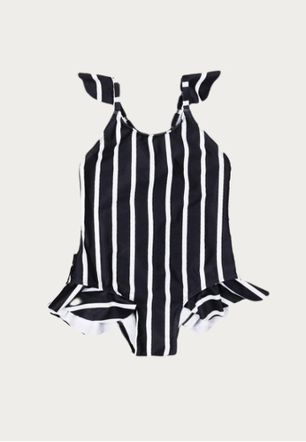 Mommy Hugs black and white Classic Stripes Swimwear for Girls A98B3KA8E98B13GS_1
