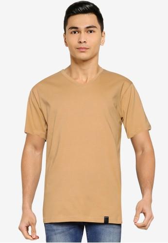 UniqTee brown Essential V-Neckline Tee 6AA81AA2984500GS_1
