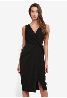 2f043b688d96 Wrap-Effect Crepe Dress FF52CAA4E37B67GS_1
