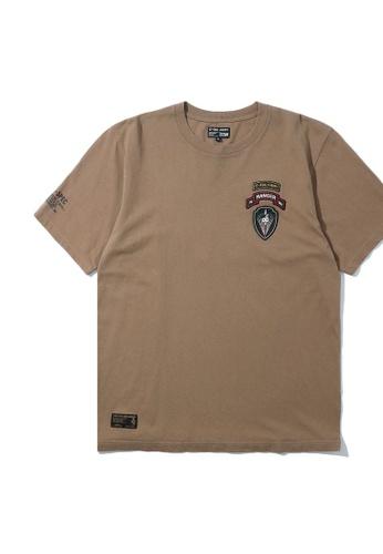 izzue beige Ranger badge tee AF749AA56A7E3FGS_1