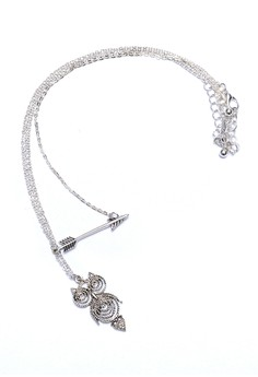Owl and Arrow Necklace Set