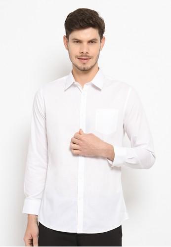 JOBB white BOLTON KEMEJA LENGAN PANJANG PRIA SLIM FIT - WHITE 89026AA02E8FEAGS_1