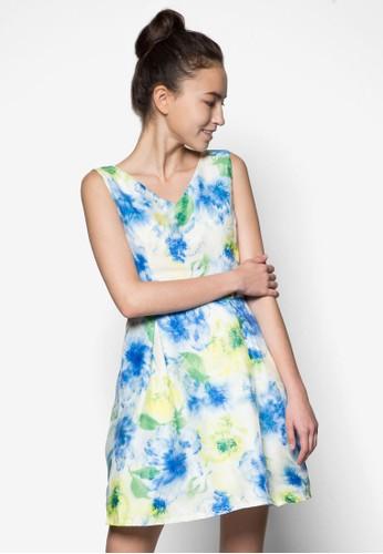 花卉圖案無袖連身esprit 中文裙, 服飾, 洋裝