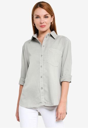 H&M green Woven Shirt 1C813AAF8F7E92GS_1