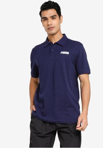 PUMA navy Essentials Piqué Men's Polo Shirt 7226EAA8D7A26AGS_1