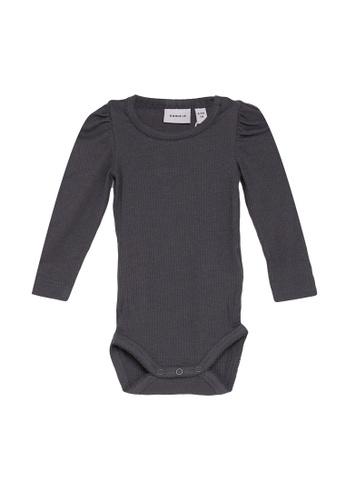 NAME IT grey Kabexi Long Sleeves Bodysuit B94F1KAE7ADABEGS_1