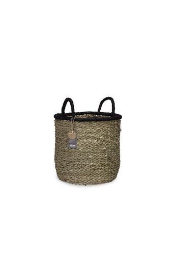 HOUZE ecoHOUZE Seagrass Bay Basket With Handles (Medium) E45F6HL76A0696GS_1