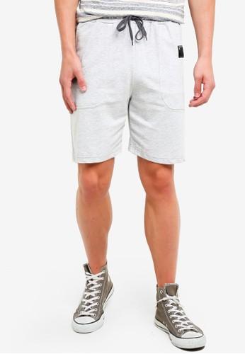 UniqTee grey Twill Jersey Shorts 3E604AA0139CA5GS_1
