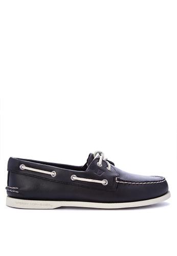 Sperry black A/O 2-Eye Boat Shoes SP132SH0IJXWPH_1