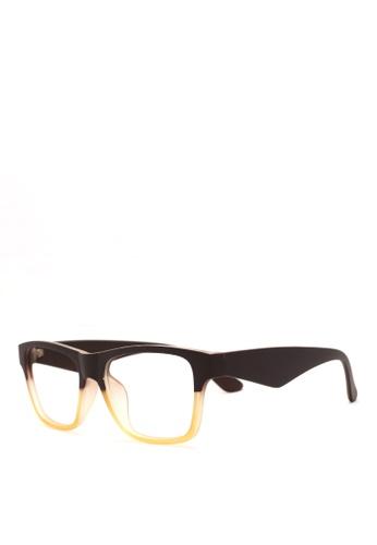 Kaca Kaca Taylor Brown Yellow Eyeglasses