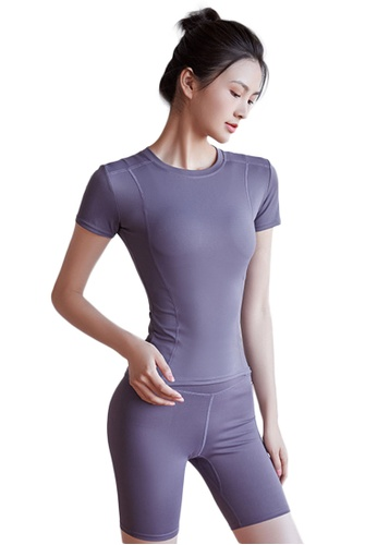 Sunnydaysweety purple Skinny Top with Bike Shorts Set A081020PU E3D1AAA8CCDB54GS_1
