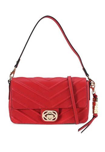 ALDO red Ascella Chevron Quilted Shoulder Bag DAD1DACAB47118GS_1