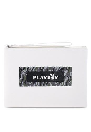 Playboy white Playboy Clutch Bag 7EF41AC670CFF0GS_1