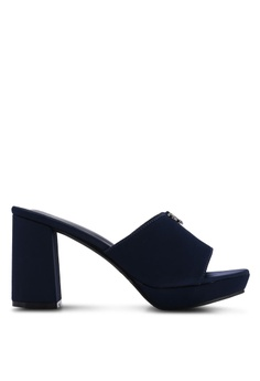 5f016d0abef1 VINCCI navy Slide On Heels 82EFASHE397CB1GS 1